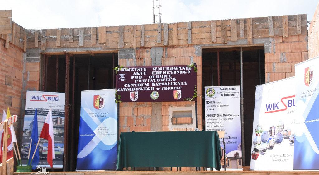 Wbudowanie aktu erekcyjnego w mury Powiatowego Centrum Kształcenia Zawodowego w Chodczu